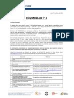 Comunicado N° 3 - Procedimiento para la Vigilancia, Prevención y Control del COVID -19 en el Trabajo  Revisión 02