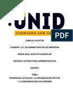 TENDENCIAS ACTUALES-LA ORGANIZACION VIRTUAL