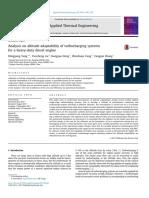 Analysis on altitude adaptability of turbocharging systems