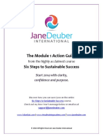 jane dueber - Module 1 Action Guide