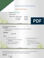 Presentation of Irrigation