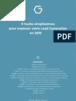 [EBOOK] 9 hacks simplissimes pour exploser votre Lead Generation en 2019 ? (2).pdf