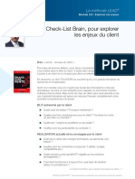 Checklist BRAIN - Enjeux client