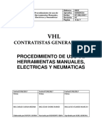 Procedimiento de Herramientas manuales,eléctricas y neumaticas.