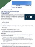 Victoria Police - Crime Prevention Through Environmental Design