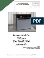 Instructiuni Tau Steril 2000