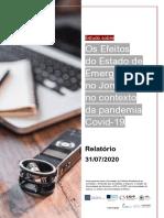 Estudo sobre os Efeitos do Estado de Emergência no Jornalismo no Contexto da Pandemia Covid-19