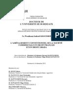 DJIGUEMDE, L'aménagement conventionnel de la société commerciale en droit français et en droit OHADA