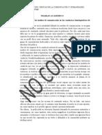 TRABAJO ACADEMICO - MEDIOS DE COMUNICACION Y EL AGRESOR