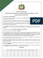 CADERNO DE PROVA CFS 2019