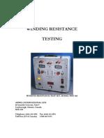 WRT-100_winding resistance test