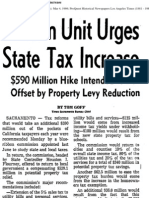 Reform Unit Urges State Tax Increase; $590 Million Hike Intended to Be Offset by Property Levy Reduction