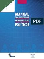 Manual para la construcción y mejoramiento de propuestas de los partidos y movimientos políticos