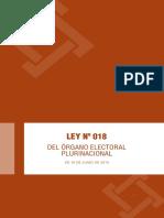 Ley Nº 018 Del Órgano Electoral Plurinacional