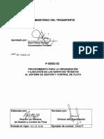 P-50502-02- Organización y ejecución de los servicios técnicos al Sistema de Gestión y Control de Flota
