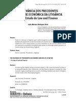 A Relevância dos Precedentes na Análise Econômica da Litigância