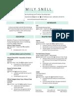emily snell - resume