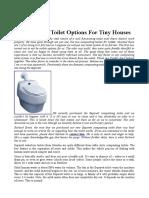 NOU FOARTE BUN Composting Toilet Options For Tiny Houses
