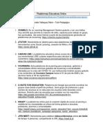 PLATAFORMAS EDUCATIVAS ONLINE
