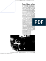 Senate Adjourns on News of Kennedy Assassination