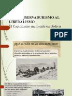 El Capitalismo incipiente en Bolivia