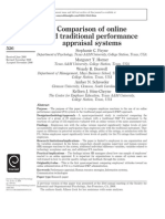 comparison of online and traditional PA