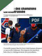 La Ligue des champions coronavirussée - Libération
