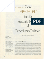 ANTONIO CACUA PRADA. CON LA BAGATELA INICIÓ ANTONIO NARIÑO EL PERIODISMO POLÍTICO