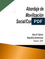 ju Propuesta de Abordaje de Movilización SocialComunitaria
