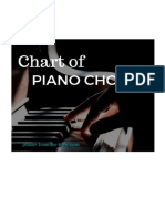 Chart of Piano Chords