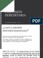 INDIVISION HEREDITARIA- CATEDRA PODESTÁ UBA