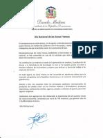 Mensaje del presidente Danilo Medina con motivo del Día Nacional de las Zonas Francas 2020