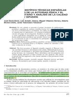 LAS REVISTAS CIENTÍFICO-TÉCNICAS ESPAÑOLAS DE LAS CIENCIAS DE LA ACTIVIDAD FÍSICA Y EL DEPORTE
