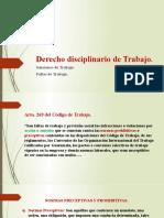 DIAPOSITIVAS DE EL DERECHO DISCIPLINARIO DE TRABAJO.