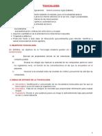 TOXICOLOGÍA clase 1 y 2