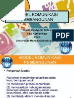 Materi 7- Model Komunikasi Pembangunan
