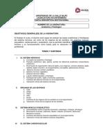 Carta Descriptiva Anatomia y Fisiología I ciclo 2020