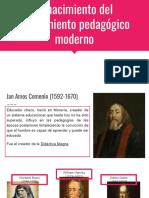 El nacimiento del pensamiento pedagógico moderno