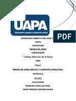 TAREA 3 TERAPIA DE JUEGO