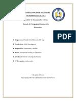 Cuestionario y Análisis Filosofia de la Educacion