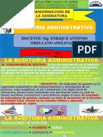 SEMANA 08  DE LA ASIGNATURA DE AUDITORIA ADMINISTRATIVA 2020 - I (1)