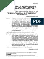 A PAIXÃO SEGUNDO G. H., DE CLARICE LISPECTOR E O ESTRANGEIRO, DE ALBERT CAMUS