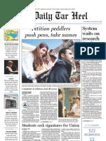 The Daily Tar Heel for January 20, 2011