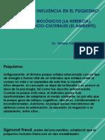 FACTORES DE INFLUENCIA EN EL PSIQUISMO