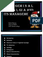 trigeminal neuralgia and its management