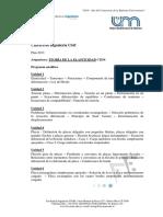 TEORIA DE LA ELASTICIDAD_ Programa analítico