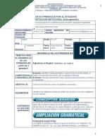 Guía de Aprendizaje inglés 8 y 9 8 de Junio