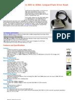 CFFire800 Pro FireWire 800 to UDMA Compact Flash Drive Read-Writer