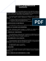 SEMANA 1 INTRODUCCION A LOS MATERIALES DE ALBAÑILERIA