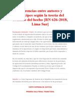 Diferencias entre autores y partícipes según la teoría del dominio del hecho